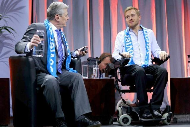 Kirchentag: Samuel Koch beeindruckt Bundespräsident Gauck