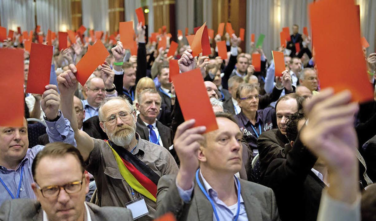 Hoch die Karten: AfD-Gründungsparteitag im April in Berlin     Foto: dpa