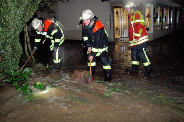 Hochwasser in Öflingen und Wehr