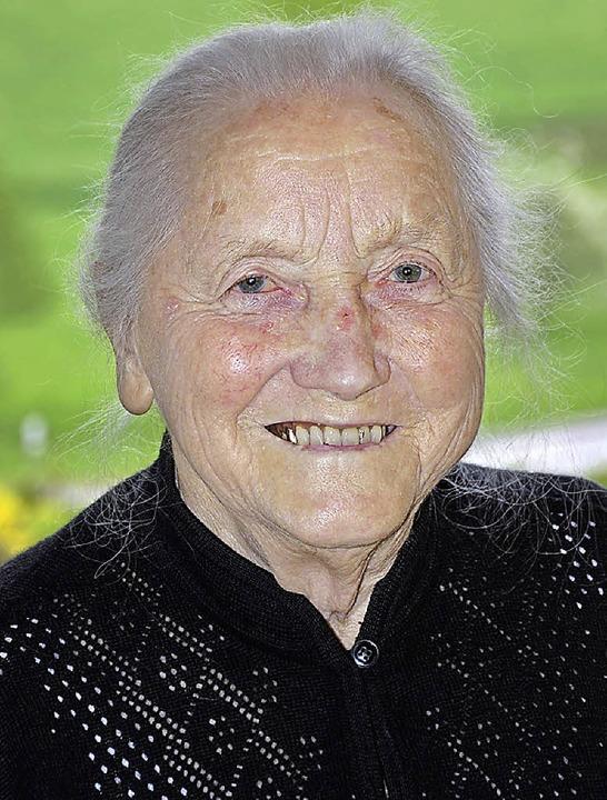 Die 90 Jahre sieht man Hilda Schneider nicht an  | Foto: Jürgen Schneider