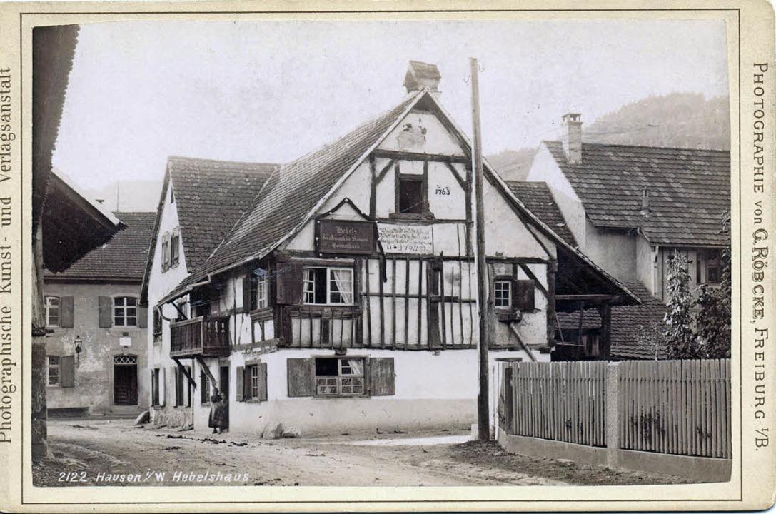 Das Hebelhaus in Hausen nach einer Bil... dem Datum vom 19. Mai 1897 versehen.     Foto: E. Vogt