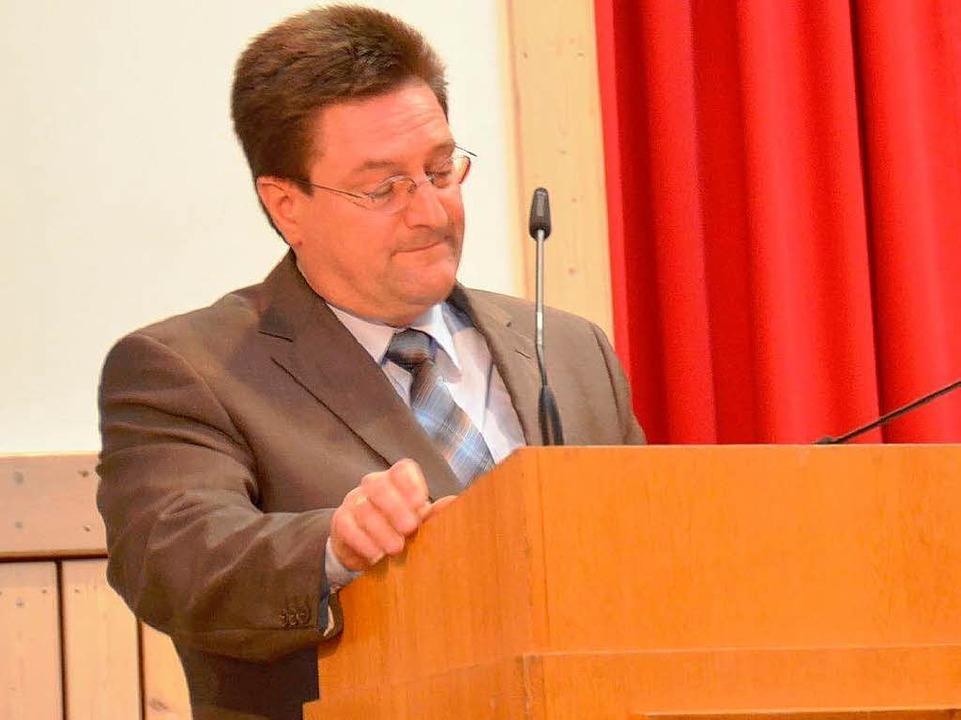 Laudator Volker Habermeier  | Foto: Edgar Steinfelder