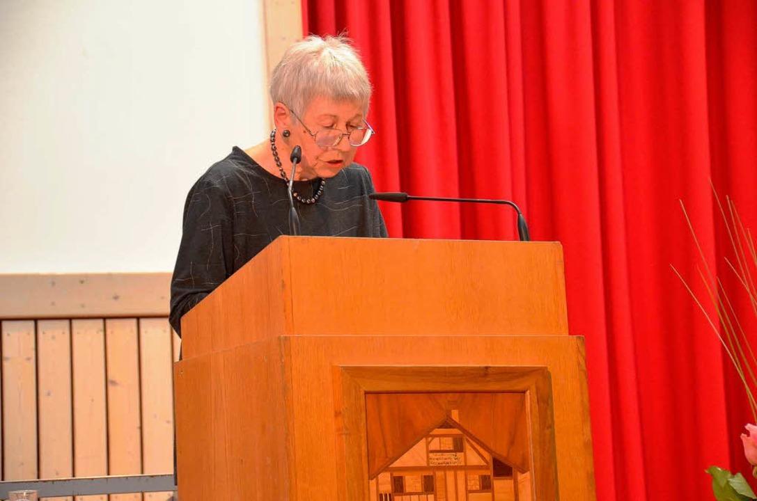 Die Schweizer Schriftstellerin Hilda Jauslin  | Foto: Edgar Steinfelder