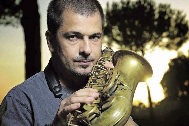 Italienischer Saxofonist Rosario Giuliani beim Jazzkongress