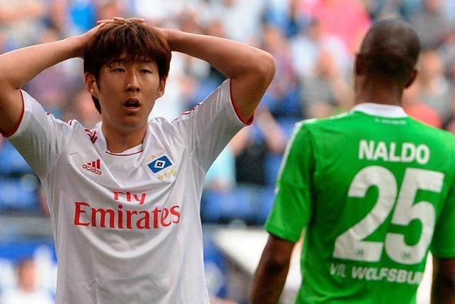 HSV nicht europareif: Nur 1:1 gegen Wolfsburg
