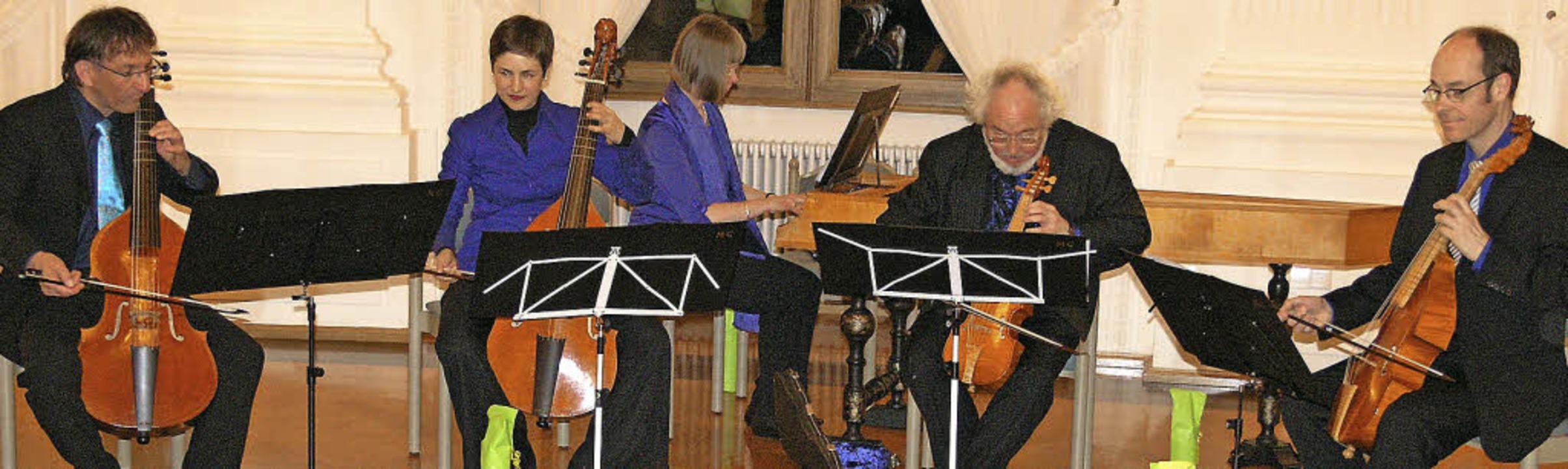 Das Marais Consort unter Leitung von H...ts beim St. Blasier Musikfrühling vor.    Foto: Margrit Matyscak