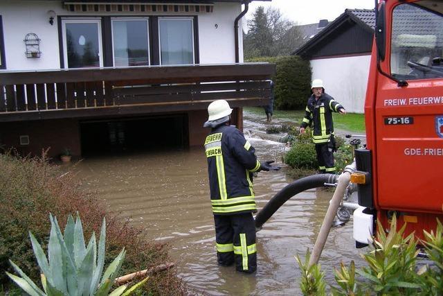 Schweres Gewitter sorgt für Hochwasser in Rötenbach
