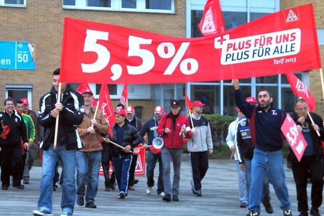 Warnstreik für mehr Lohn