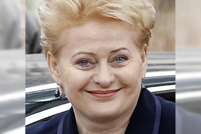 Karlspreis für litauische Präsidentin