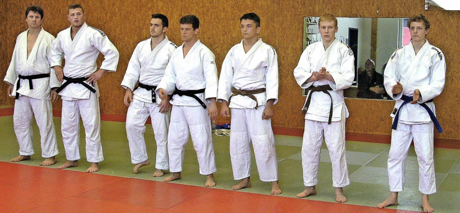 Die Judokas vom TV Heitersheim: Liam G...ttstock und   Ecki Schöll (von links)   | Foto: klaus schultis