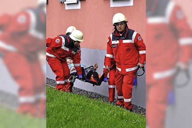 Routiniertes Vorgehen der Feuerwehr