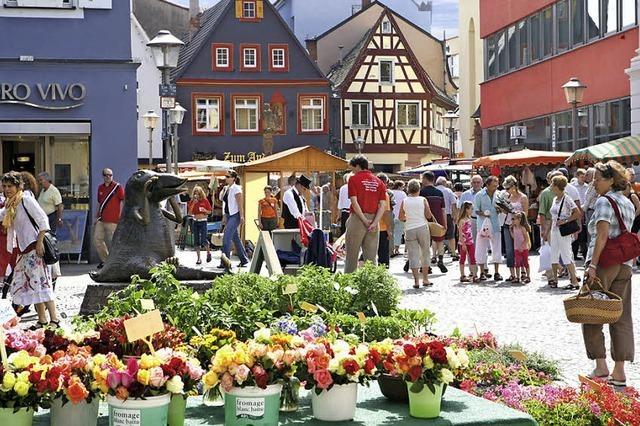 Feste auf dem Wochenmarkt und im Bürgerpark