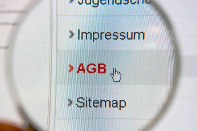 Auch im Internet auf die AGB achten