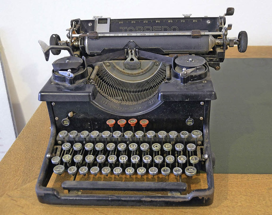 Die Schreibmaschine der lettischen Schriftstellerin.  | Foto: Ute Wehrle