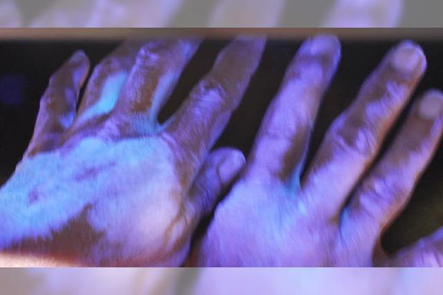 Aktion saubere Hände an der Helios-Klinik soll die Ansteckungsgefahr bewusst machen