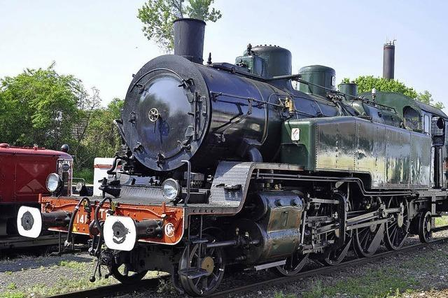 Lokomotivenparade zum Jubiläum