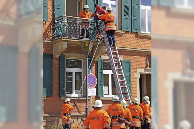Feuerwehrarbeit hautnah