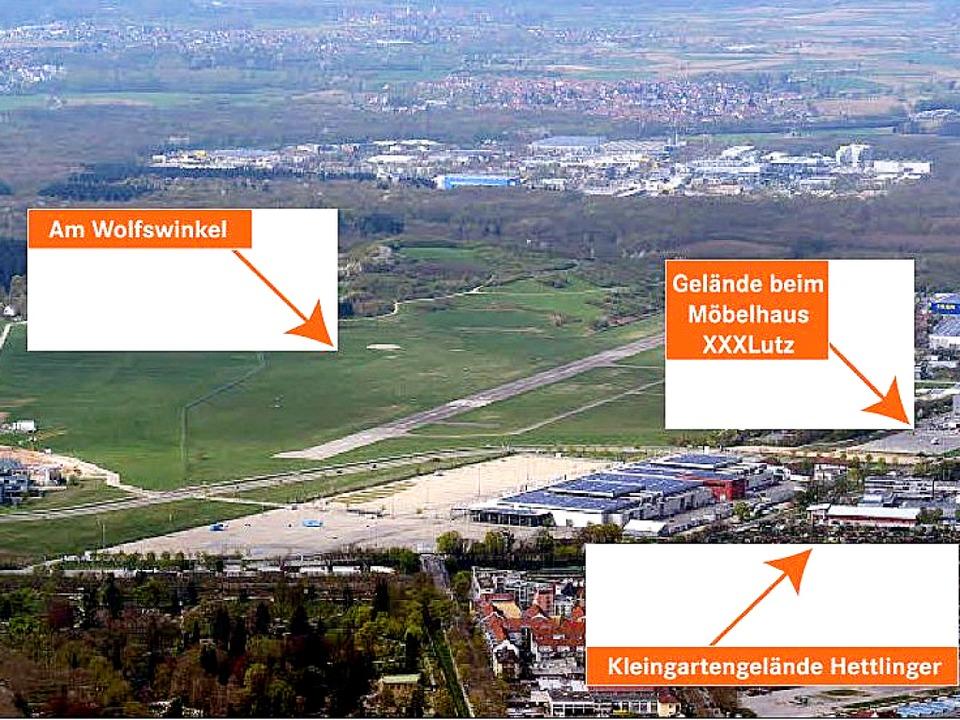 Der neue Bebauungsplan für den Flughaf...es neuen Stadions für den SC Freiburg.  | Foto: Patrick Seeger