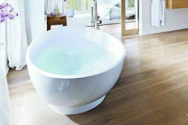 Im Trend: Holzfußboden fürs Bad