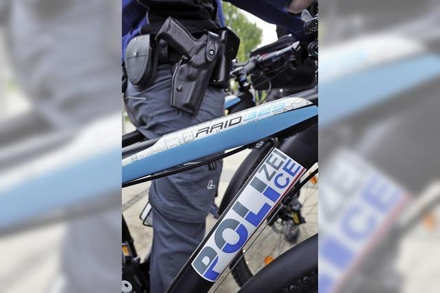 Die erste deutsch-französische Fahrradstaffel der Polizei beginnt ihren Dienst