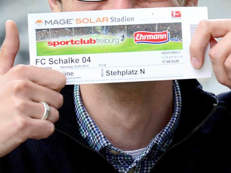 Derzeit Freiburgs Wertpapier mit der h...as Spiel SC Freiburg gegen Schalke 04.  | Foto: Ingo Schneider