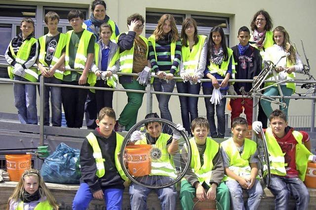 Schüler sammelten Müll