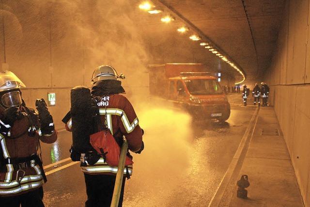 Erste Probe im Rappensteintunnel
