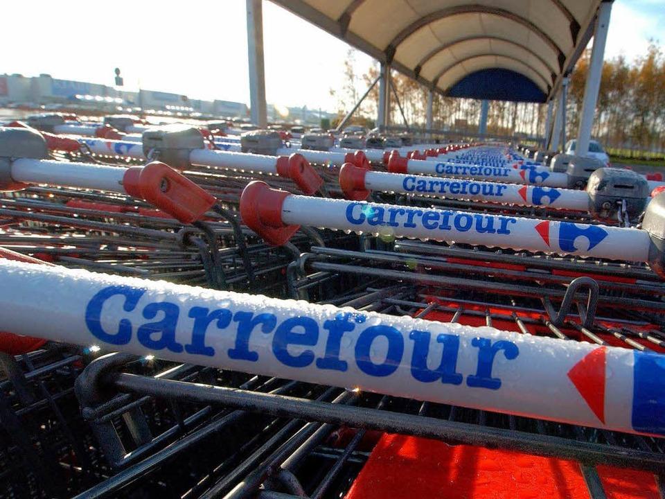 Die Supermarktekette Carrefour konnte ...ntagsruhe im Elsass nicht durchsetzen.  | Foto: MYCHELE DANIAU