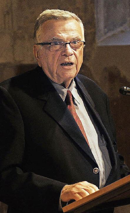 Bernhard Maier bei seinem Vortrag in Kippenheim.   | Foto: W. Künstle