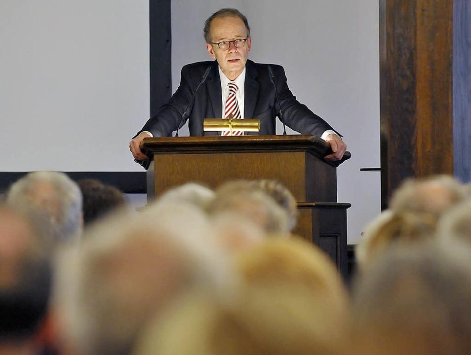 Winterer-Urenkel Tilman Mayer beim Fes...Historischen Kaufhaus am Münsterplatz   | Foto: Michael Bamberger
