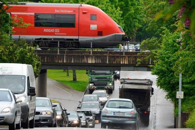Anschluss Rheinfelden-Mitte: Neues Schild soll Staus verhindern