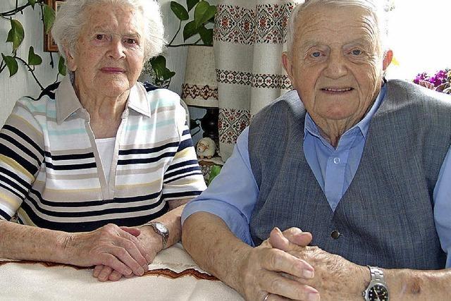 Seit 65 Jahren schreiten sie Seite an Seite durch das Leben