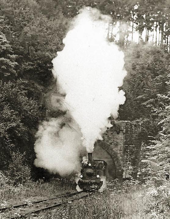 Bis endlich Züge durchs Wehratal dampf...asel), brauchte es einen langen Atem.   | Foto: Foto/Repro: Ernst Brugger
