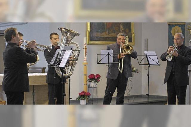 Brassmusik und Klassik in der Kirche