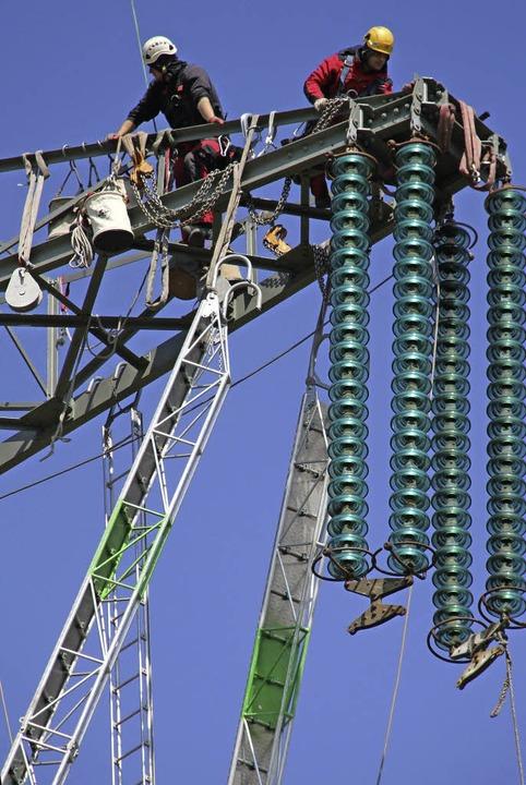Der Aus- und Umbau des Stromnetzes erfordert viel Geld.    Foto: DPA