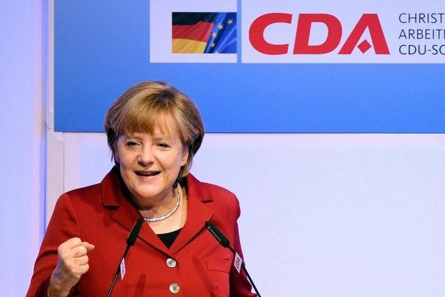Merkel vertröstet CDA bei Mindestlohn