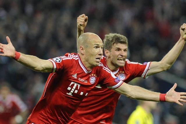 Der FC Bayern München gewinnt die Champions League mit 2:1