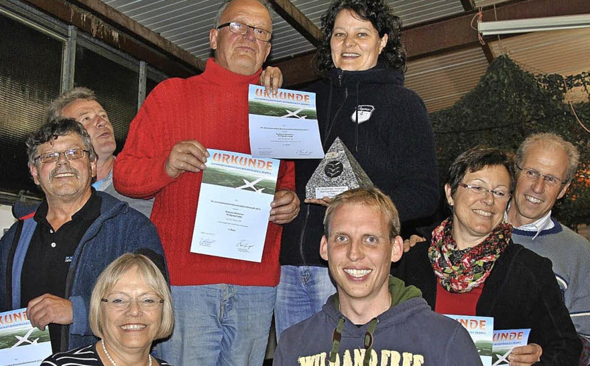 Die Sieger in der Doppelsitzer-Klasse:...ka Lang-Dahlke und  Marcus Neubronner   | Foto: Fautz