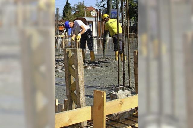 Die Baubranche in der Region boomt