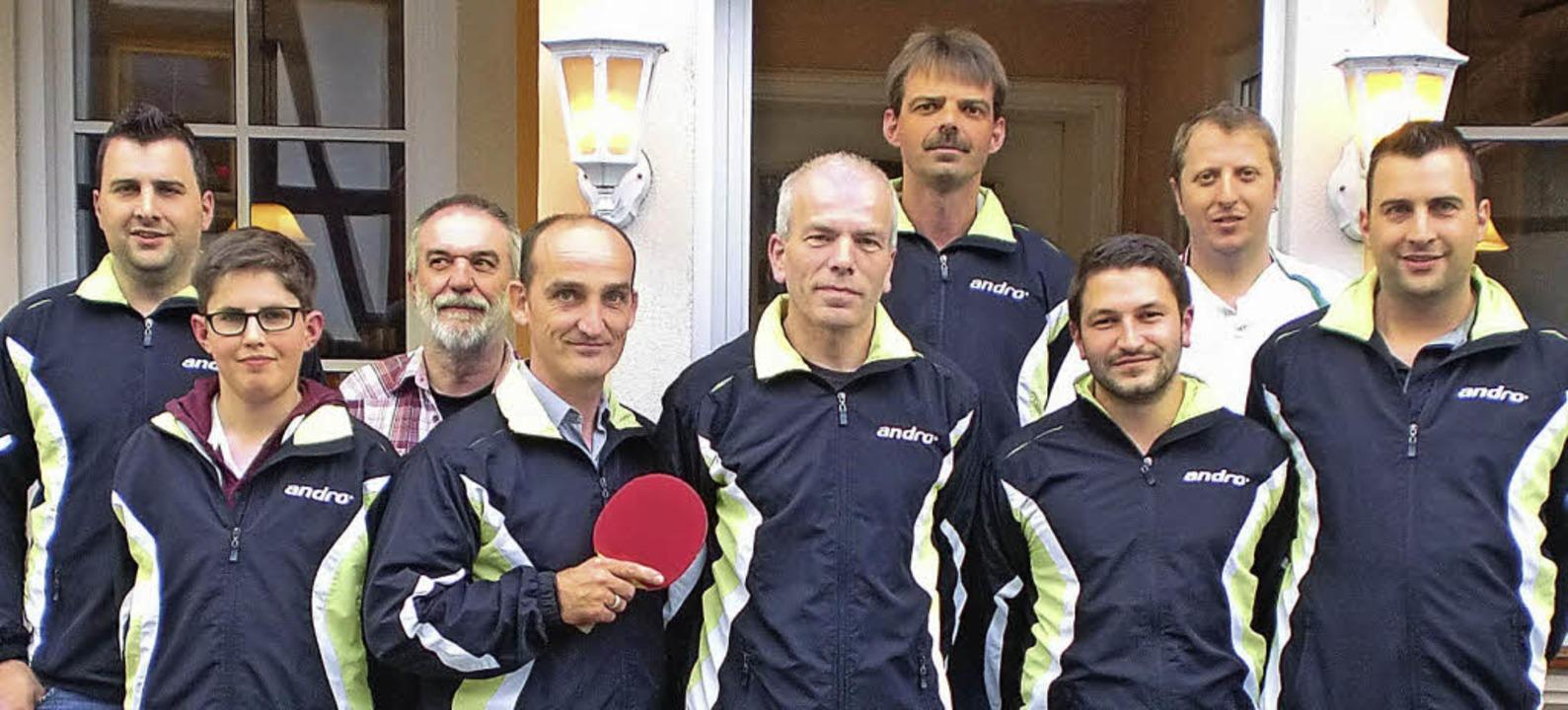 Erfolgreiches Bahlinger TTC-Team (von ...klin, Peppino Rotunno, Nico Schubarth     Foto: Privat