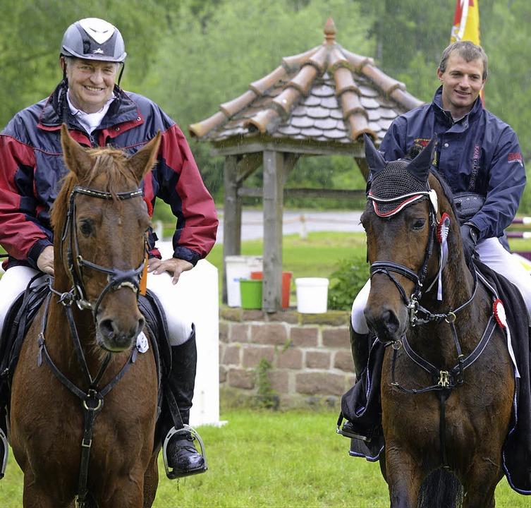 Trotz des Wetters ist ihnen das Lachen...Hönig vom RV Lahr, der Zweiter wurde.   | Foto: Achim Keller