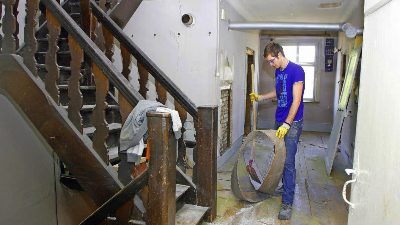 Arbeiten im Treppenhaus   | Foto: heidi fössel