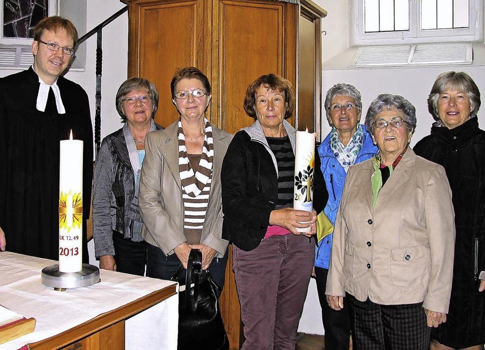 Im Gottesdienst in der Jakobuskirche e...e, Gertrud Keck und Ute Deseniss-Gros.    Foto: Klaus Werden