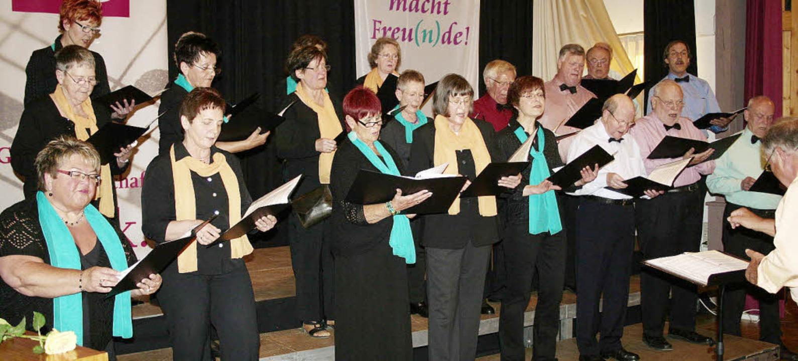 Unter der Leitung von Hermann Schill l...m Gelingen des Frühlingskonzertes bei.    Foto: Karin Heiß