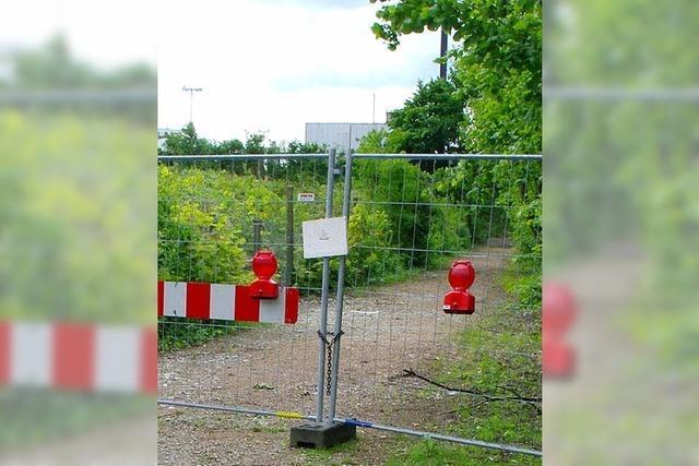 Rheinuferweg bleibt lange geschlossen