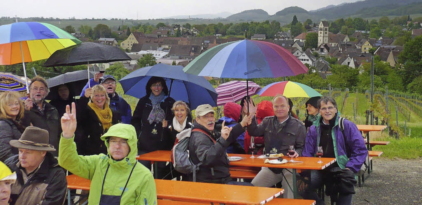 Regen? Na und? Die Wanderer amüsierten sich trotzdem.   | Foto: privat