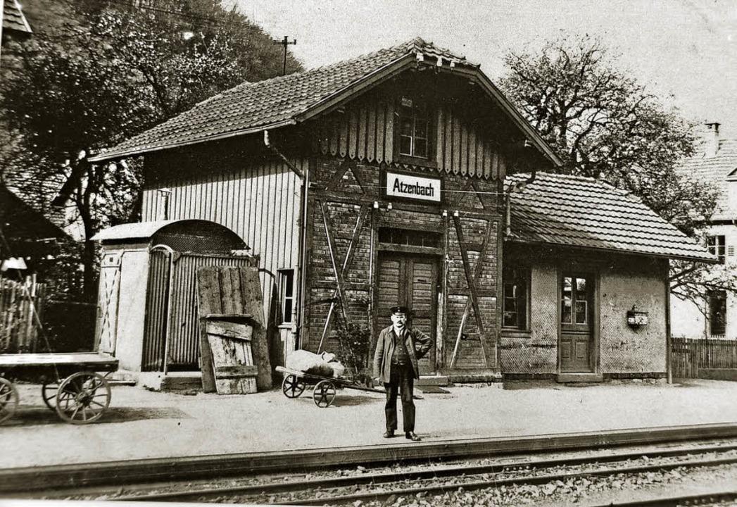 Der alte Bahnhof von Atzenbach. Heute ...der  Spani ein altes Schwarzwaldhaus.   | Foto: Jacob