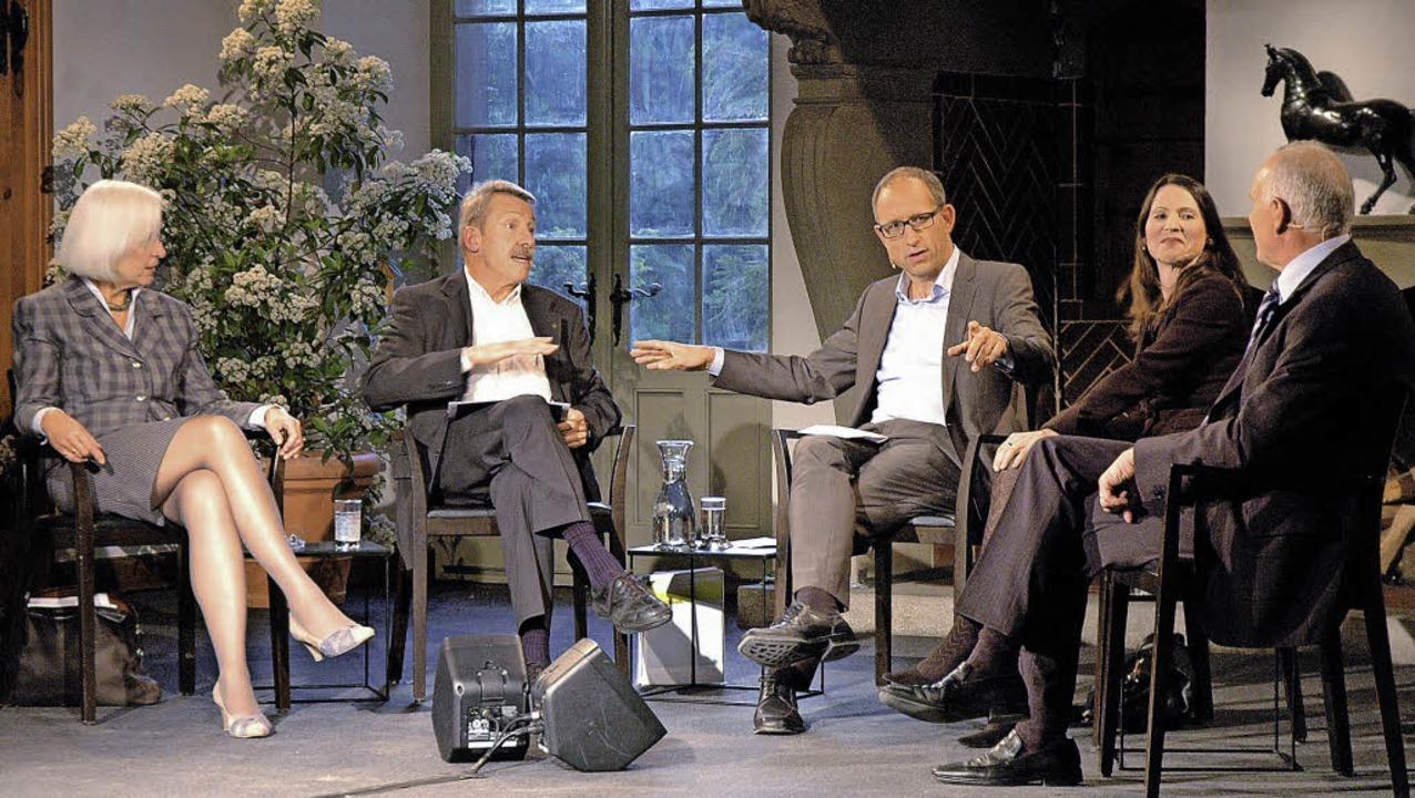 Über die Energiewende diskutierten (vo...nt der Industrievereinigung Swissmem.     Foto: Britta Wieschenkämper