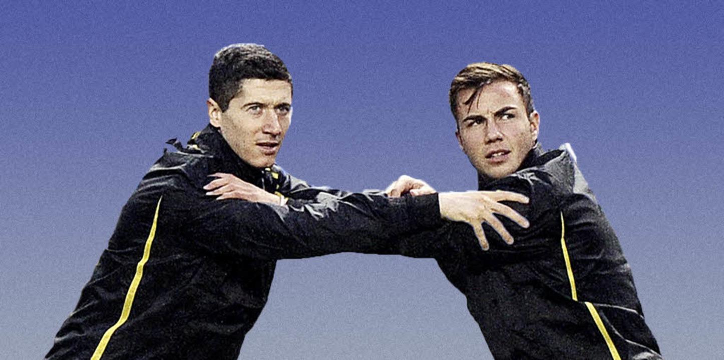 Dortmunder Geldbringer: Robert Lewandowski (links) und Mario Götze  | Foto: dpa