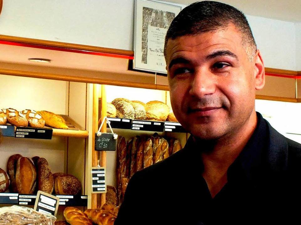 Der boxende Bäcker Ridha Khadher     Foto: Veiel